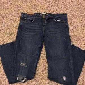 Zara cropped stretch jeans